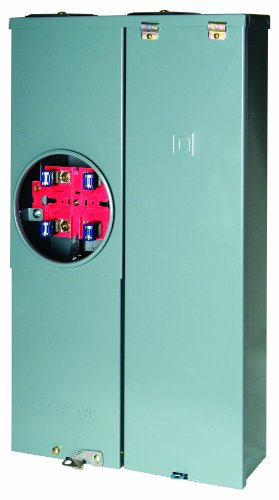 Breaker Panel Meter (Square D by Schneider Electric  SC1624M125S Homeline 125-Amp 16-Space 24-Circuit Outdoor Surface Mount Main Breaker Combination Service Entrance Device)