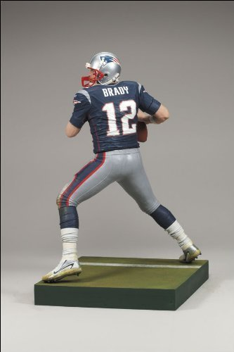 Tom Brady #12 New England Patriots Blue Jersey Dirty Uniform McFarlane NFL Wave 2 (Nfl 2008 Wave)
