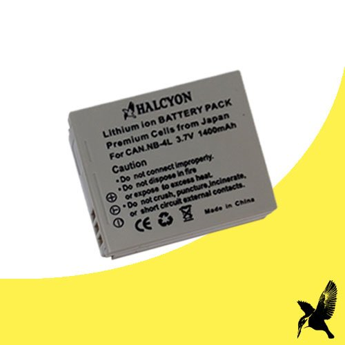 Halcyon 1400 mAH Lithium Ion Replacement Battery for Canon PowerShot ELPH SD1100 IS 8.0 MP Digital Camera and Canon NB-4L