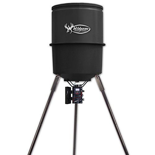 Wildgame Innovations W225D Tri-Pod Digital Feeder, 225-Lb. Poly Barrel, 30-Gals