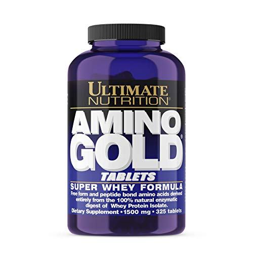 Ultimate Nutrition Amino Gold Complete Amino Acid and BCAA Supplement with Protein - Super Whey Protein Formula, 1500mg, 325 Tablets
