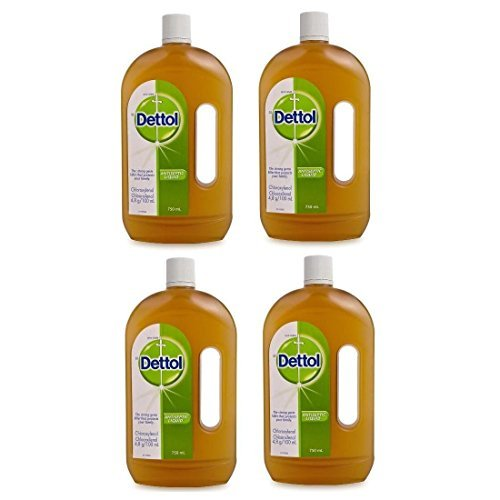 Dettol Antiseptic Liquid from England 750ml Bottle (Pack of 4) ()