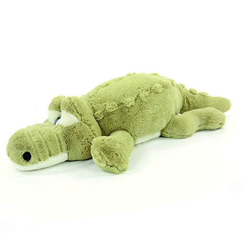 (Crocodile Plush Stuffed Alligator Cuddly Animal Toy Soft Pillow Green)