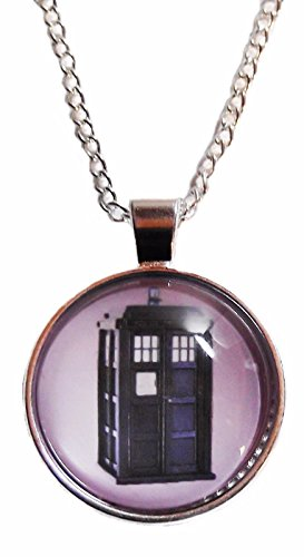 [Dr. Who TARDIS Glass Domed Pendant NECKLACE] (Matt Smith Costume)