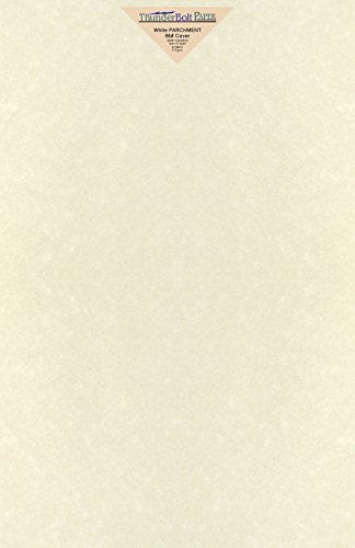 Print White Colored Paper (25 White Parchment 65lb Cover Weight Paper 12 X 18 Inches Cardstock Colored Sheets Large Size -Printable Old Parchment Semblance)