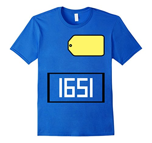 Mens Game Show Group Halloween Costume T-Shirt Large Royal (Price Right Halloween Costume)