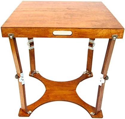 Spiderlegs Wooden Folding Student Homework Desk Mahogany