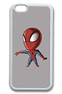 iPhone 6 plus Case, 6 plus Case - Extremely Soft White Rubber Case Bumper for iPhone 6 Spiderman Baby 1 Protective Soft Case Cover for iPhone 6 plus 5.5 Inches