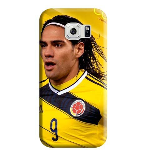 Samsung Galaxy S6 case PC colorful mobile phone carrying shells Radamel Falcao