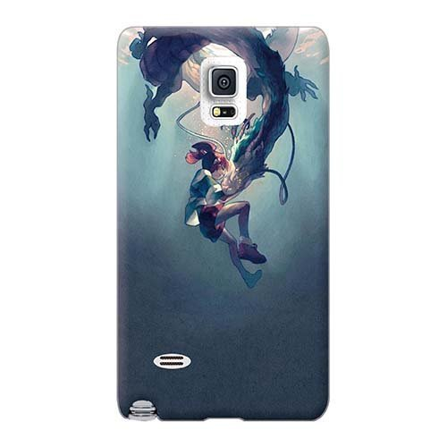 Perfect Hard Cell-phone Cases For Samsung Galaxy Note 4 With Provide Private Custom Vivid Haku / Spirited Away / Studio Ghibli Image 88bestcase (Spirited Away Ipod 4 Case)
