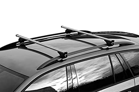 Nordrive Snap-Fit Telescopic Aluminium Roof Rack Bars Size 1-80�111 cm Attach To Raised Roof Rails