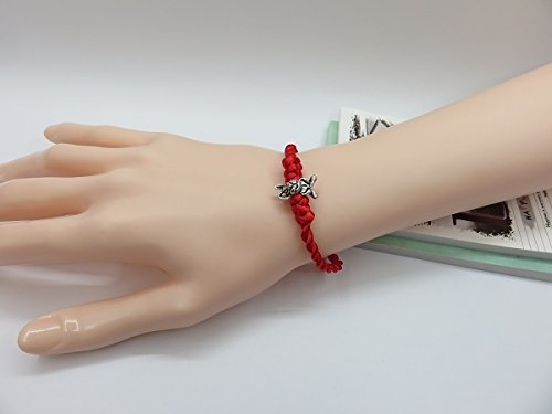 Blessed with 2 models Benming Ly transit evil red string bracelet hand rope Tibetan silver bunnies