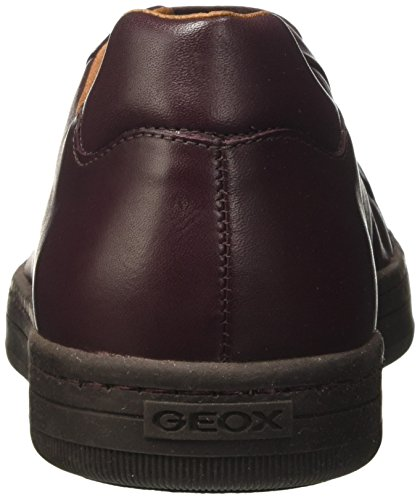 Geox Rikin, Scarpe da Ginnastica Basse Uomo Rosso (Dk Burgundy)