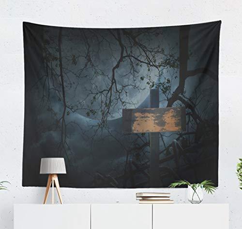 Kutita Tapestry Wall Hanging Cross Old Tree Moon