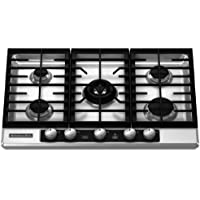 Kitchenaid KFGU706VSS 5 Burners Stainless Steel Clear Coat Surface Architect Series II