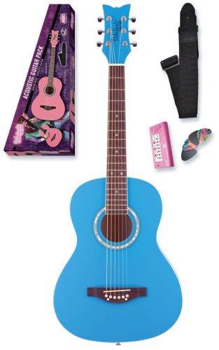 Daisy Rock Debutante Jr. Miss Acoustic Short Scale Pack, Cotton Candy Blue ()