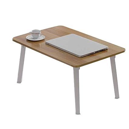 Amazon.com: Computer Desks Simple Desk Dorm Room Lazy Folding Study Table  Bedroom Laptop Table 1 Second Fold Bold Table Legs (Color : BrownA): Office  ...