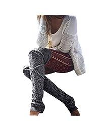 MIOIM Over Knee Socks Thigh High Stockings Knitted Winter Warm Women Ladies