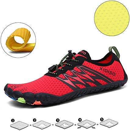 41qH83 cL5L. AC XIDISO Mens Water Shoes Womens Quick Dry Lightweight Barefoot Shoe Multifunction Aqua Sports Socks for Swimming Walking Diving Surfing Beach Pool Yoga    Product Description