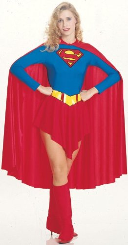 Women's Dc Comics Supergirl Outfit Adult Fancy Dress Halloween Costume