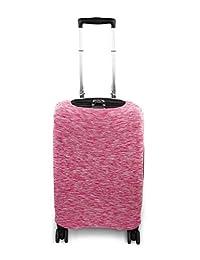 Containers By Aline- Funda protectora para maletas de viaje de lycra elástica en 3 tamaños universales de maletas antipolvo y anti rayaduras - Forro para equipajes - Cubierta para equipajes - Color Rosa Jaspeada, Tamaño Chica