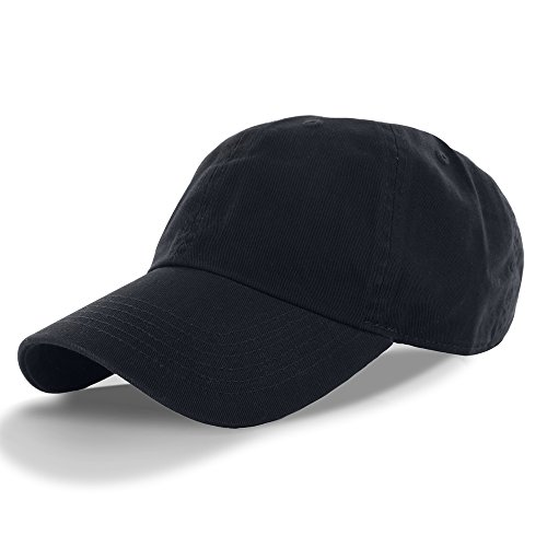Solid Low Profile Cap - Plain 100% Cotton Hat Men Women One Size Baseball Cap (30+ Colors) Navy,One Size