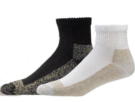 Aetrex Copper Non-Binding Cushion Ankle Socks, 1 Pair, W 9.5 - 13 / M 8.5-12