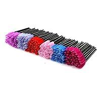 EZGO 300 Pack de pinceles de rímel de pestañas desechables cepillos Varitas Aplicador Kits de pinceles de maquillaje, 6 colores