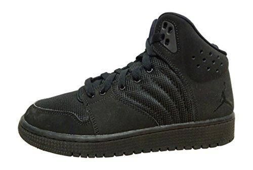 Nike Jordan 1 Flight 4 Bg, Zapatillas de Deporte para Niños Negro (Black / Black-Black)