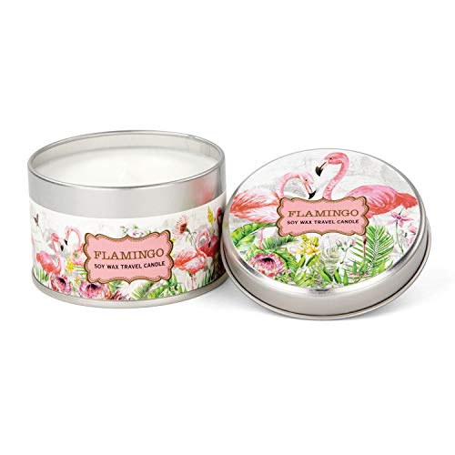 Michel Design Works Soy Wax Candle in Travel Tin Size, Flamingo