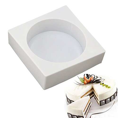 New Arrival DIY White Silicone Cake Pan Square Cylinder Shape Molds for Mousse Baking Decorating Tools