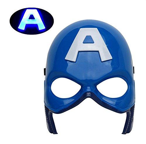 [Mizzuco Halloween Cosplay LED Eye Mask For Children(Blue)] (Kids Captain America Costumes)