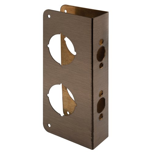 Prime-Line Products U 9577 Non-Recessed Door Reinforcer Combo 1-3/4-Inch Thick by 2-3/8-Inch Backset 2-1/8-Inch Bore, Antique Brass (Antiques Products)