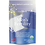 Blue Stork Male Fertility Tea: Mint Tea for Male Reproductive Health, 100% Organic, Fertility Tea for Men + Green Tea + Turmeric, 30 Cups