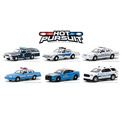 HOT Pursuit Series 33, Set of 6 Police Cars 1/64 DIECAST by GREENLIGHT 42900: Toys & Games