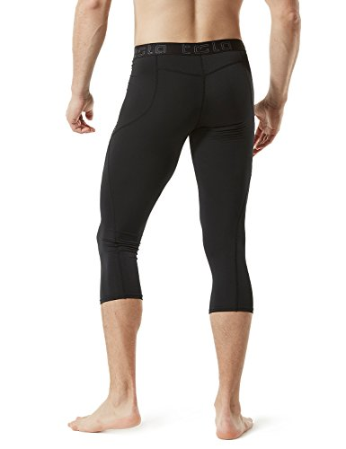 TSLA TM-MUC18-KLB_Medium Men's Compression Capri Shorts Baselayer Cool Dry Sports Tights MUC18 by TSLA (Image #5)