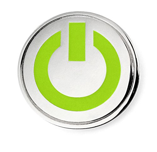 Pinsanity Power Button Glow-in-The-Dark Enamel Lapel Pin