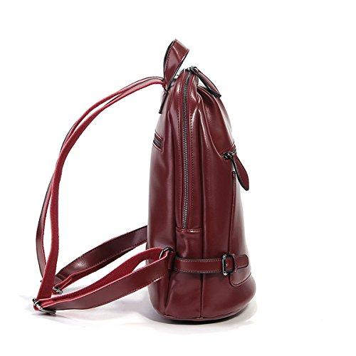 LF portés portés E main portés Sac fashion à épaule femme Bordeaux 9002 en cuir Sac dos Girl main Sac Sac Ppqp5gw