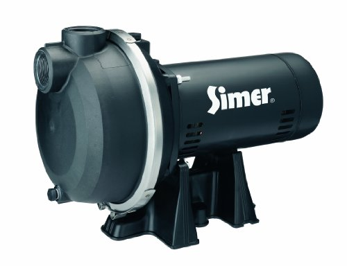 Cast Iron Sprinkler Pump - Simer 3415P 1-1/2 HP Spinkler System Pump