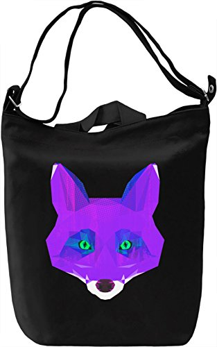 Purple Fox face Borsa Giornaliera Canvas Canvas Day Bag| 100% Premium Cotton Canvas| DTG Printing|