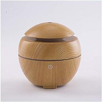 Humidificador sin filtro Mini humidificador ultrasónico Difusor USB Luz LED Difusor de aroma de madera Purificador ...