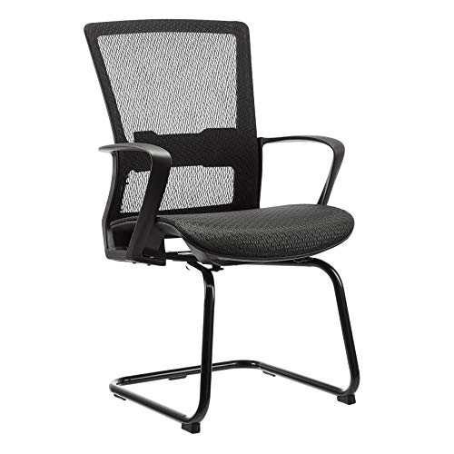 AmazonBasics Mid-Back Guest/Reception Chair, with Contoured Mesh Seat