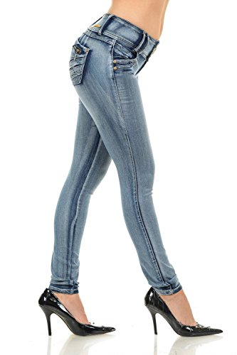 M.Michel Women's Jeans Colombian Design, Butt Lift, Levanta Cola, Push-up, Skinny - Style G115