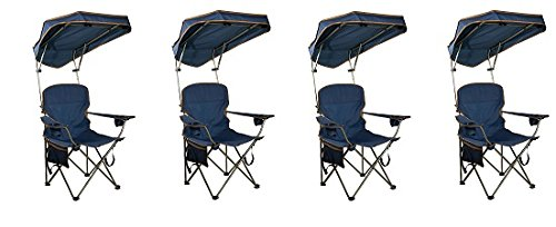 Quik Shade MAX Shade Camp Chair - Navy (4-(Pack)) by Quik Shade.