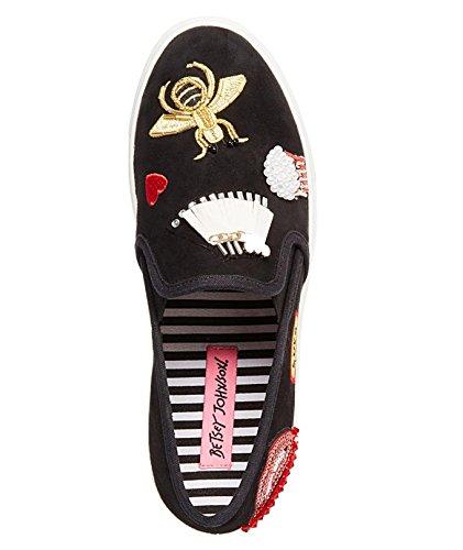 Wedsey Johnson Dames Zwart Cooper Sneakers, Zwart Veelkleurig; 5 M Ons Zwart Veelkleurig
