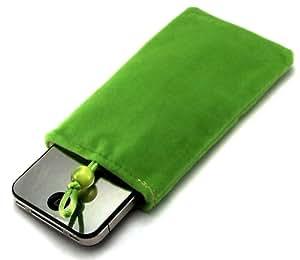 """""""Desire"""" Verde, Auténtico estuche de tacto suave para Samsung A687 Strive. Lujosa Funda / Estuche / Carcasa / Cubierta con forro de fibra para teléfonos móvil."""