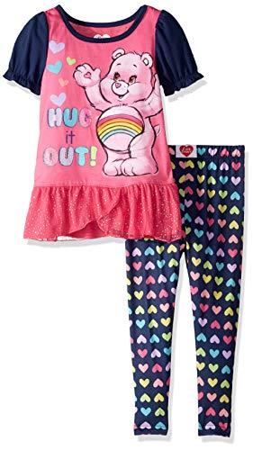 Care Bears Girls' Toddler 2 Piece Pajama Set, Navy, ()