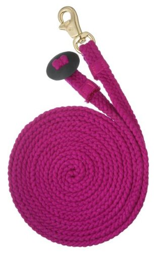 Tough-1 Braided Flat Cotton Lunge Line Pink