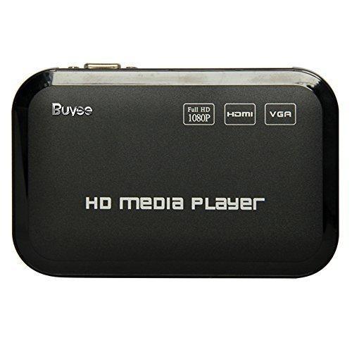 Buyee Full HD 1080p HDMI Media Player Romote Control Wireless HDD MKV SD USB TV AVI RM