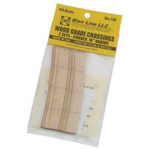 Blair Line - HO Laser-Cut Wood Grade Crossing, 18